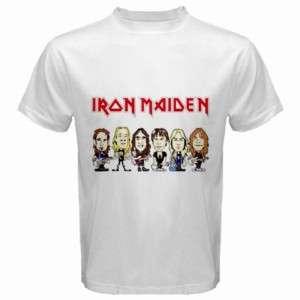 Iron Maiden Cartoon White Mens T Shirt Size S to 5XL