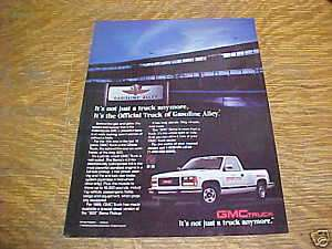 1989 GMC 500 Sierra Pickup Truck Advertisement, Ad