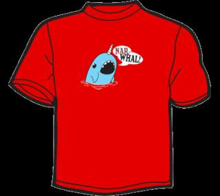 NARWHAL T Shirt MENS funny vintage 80s retro threadless