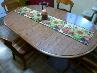 Ethan Allen ROUND OVAL Kitchen Dining Room Table W/ Pedestal Base Set