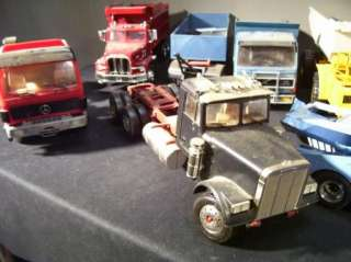 11 PC Lot Semi/Tractor/Trailer/Dump Truck Junkyard Model Kit Custom