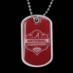 Alabama Crimson Tide 2011 BCS National Champions Dog Tag