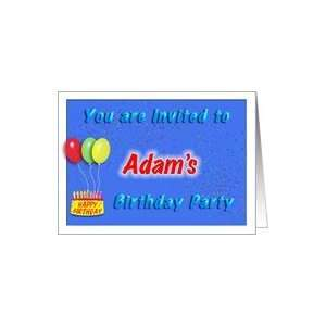 Adams Birthday, Invitation to the Party Card Toys & Games