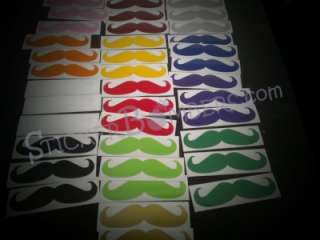 13 PACK Mustache JDM Decals Stickers 3 ALL COLOR Diamond ILLEST