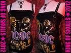 AC/DC *DIY* HEAVY METAL TANK TOP L T shirt altered to
