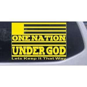 One Nation Under God Christian Car Window Wall Laptop Decal Sticker