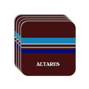 Personal Name Gift   ALTARES Set of 4 Mini Mousepad Coasters (blue