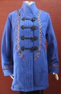 NEW NWT  Bob Mackie Wearable Art Jacket Fleece Womens Purple Black