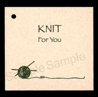 50 knit for you hang tags from kimmeric studio est 1983