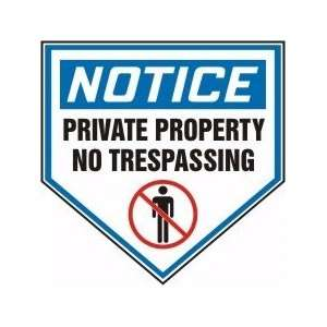 PRIVATE PROPERTY NO TRESPASSING (W/GRAPHIC) Sign   18 .040 Aluminum
