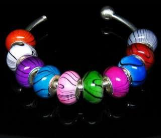 Wholesale lot 100pcs mix Acryl beads Fit charm Bracelet