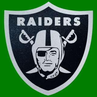 Raiders BLACK Chrome 12 Auto Car Window Sticker Decals