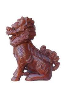 High Quality Carved Box Wood Qilin / Kirin Statue w246