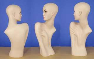 please view similar flesh tone form head mannequins 109n 110n