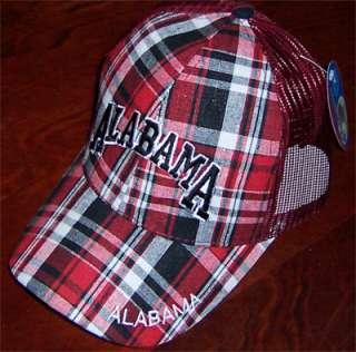 Alabama Crimson Tide Plaid Cap AL Football Fan Golf Hat Bama Ball Caps