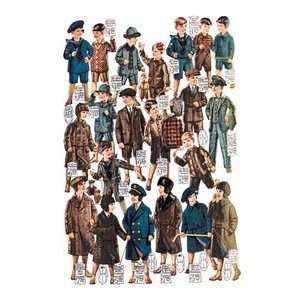 Little Boys Modeling Garments   Paper Poster (18.75 x 28.5