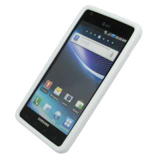 Samsung Infuse 4G White Case Skin+SP+Car Charger 886571122019