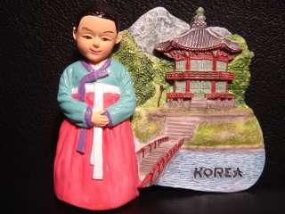 Korean Traditional Dress Hanbok Korea resin Car Magnet
