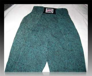 VTG 80s Green Baggy VELCRO BODYBUILDING Beach Bod MUSCLE PANTS L
