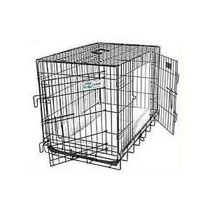 Black Epoxy Double Door GoGo Dog Crate w/ Divider Pet