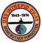 US NAVY SHIP PATCH, USS INTREPID CV 11 Y