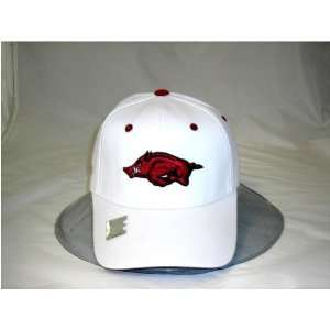 Arkansas Razorbacks UA NCAA Adult White Wool 1 Fit Hat