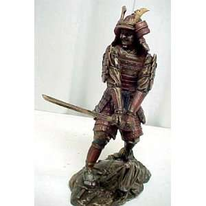 Bushido Samurai Warrior In Armor Statue Figurine Shogun