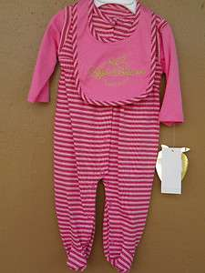 New Apple Bottoms Infant Girls Urban Wear Striped Lay Sleep And Play