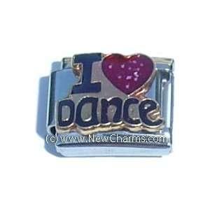 I Love Dancing Italian Charm Bracelet Jewelry Link