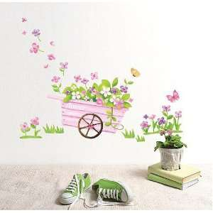 Wall Decor Removable Decal Sticker   Blooming Flower Plants Car Baby
