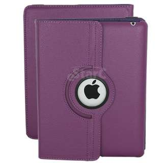 brand new purple leather case for apple ipad 2g this