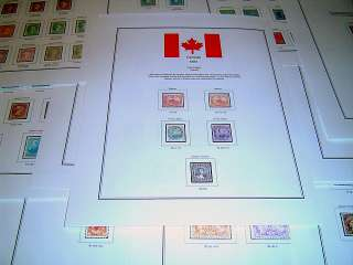Canada 1 84 Color Stamp Album Pages (Free Shipping)