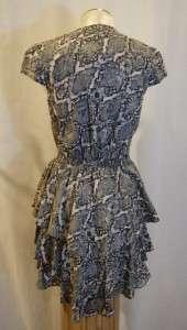 ARMANI EXCHANGE animal print tiered dress size 6