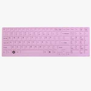 Pink Silicone Keyboard Cover for SONY EB Series 15.5 inch