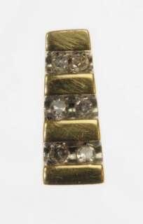 LADIES 10K YELLOW GOLD DIAMOND ESTATE PENDANT 405003
