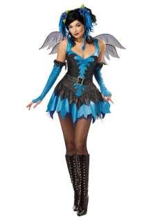 Blue Twilight Fairy Wings Adult Halloween Costume