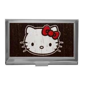 Hello Kitty Marquetry Sanrio Japan Reflective Metal ID