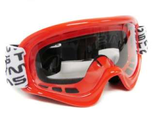 YOUTH RED OFF ROAD GOGGLES MOTOCROSS DIRT BIKE ATV MX