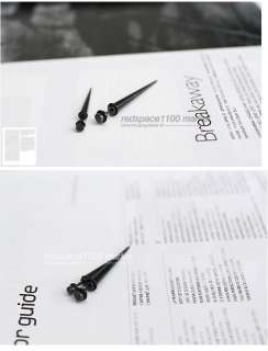 BIGBANG G Dragon Black cone piercing Big Bang (1ea)