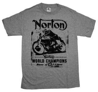 World Champion Motorcycles Road Hog Vintage Style T Shirt Tee