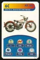 1959 59 HARLEY DAVIDSON 165 Motorcycle TOP TRUMPS CARD
