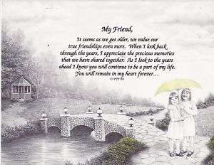 MY TRUE FRIEND FRIENDSHIP POEM PERSONALIZED NAME PRINT
