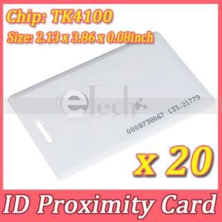 20pcs RFID 125Khz Proximity ID Cards 0.8mm EM Cards