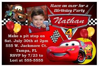 DISNEY CARS BIRTHDAY PARTY INVITATIONS
