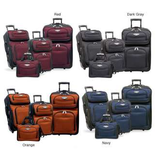 Travelers Choice Amsterdam 4 piece Luggage Set   Navy