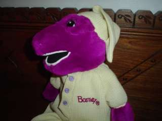 Barney in Pajamas 15 inch Stuffed Doll
