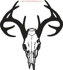 Deer Skull Hunting Sticker Decal Car Truck ATV 1 28