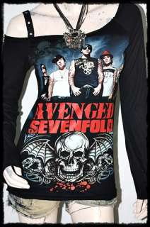 Avenged Sevenfold Metal Rock DIY RawEdge Off Shoulder Top