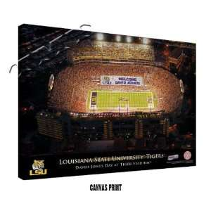 LSU Tigers Personalized Football Stadium Print: Sports