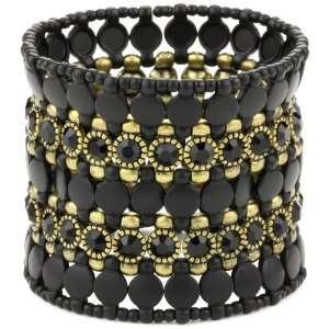 Leslie Danzis Black And Crystal Stretch Bracelet Jewelry